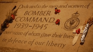 A Memorial Plaque For The Bomber Command During WWII