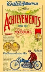 Poster Celebrating The Achievements of Glenn Curtiss on www.all-things-aviation.com