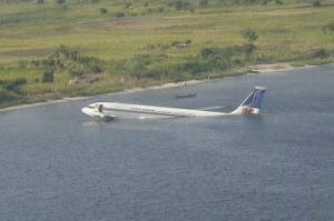 Airliner Landed In Water