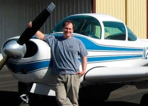 FlyingEyes Sunglasses Founder Dean Siracusa and his Meyers 200