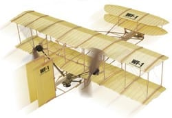 Whitewings Rubber Band Powered Giant Wright Flyer model
