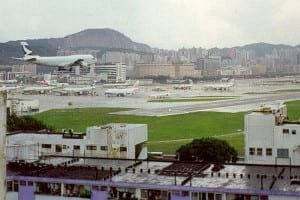 he Kai Tak International Airport in Hong Kong