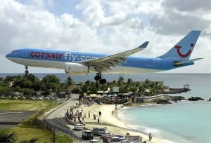 The Princess Juliana International Airport in St. Maarten