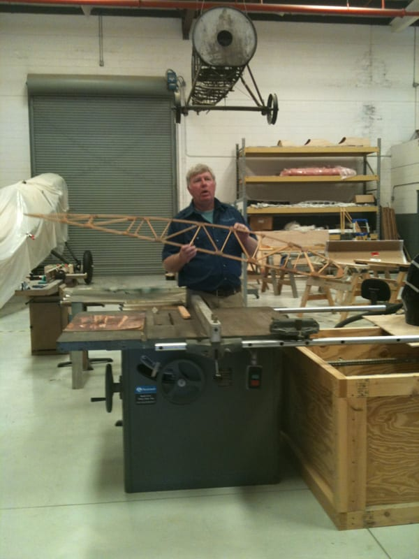 Demonstrating Wood Wing Construction