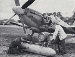 Filling Up A Spitfire Long Range Tank With Beer