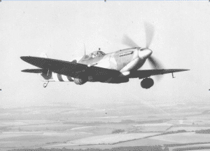 Spitfire On War Beer Run During WWII