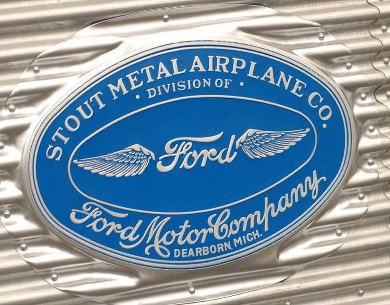 Ford Trimotor Manufacturing Plate at www.all-things-aviation