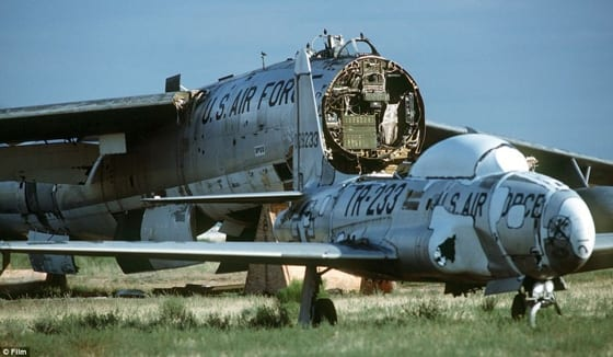 A T-33 and B-47 In The Tucson Graveyard