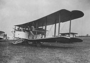 A Vickers Vimy Bomber like the one Alcock & Brown used in the first trans-atlantic flight.