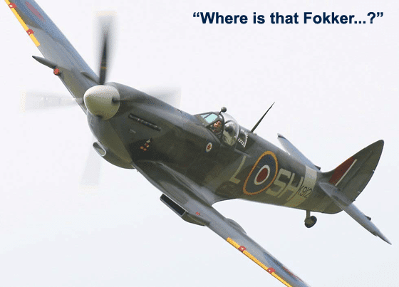 Imagine A British Spitfire In Pursuit Of A German Fokker In WWII
