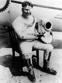 Wiley Post in his pressurized suit