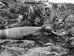 Old Military Aircraft Crash Debris