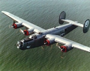 Consolidated B-24 Bomber Enroute to Germany