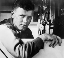 Charles Lindbergh in The Spirit of St. Louis