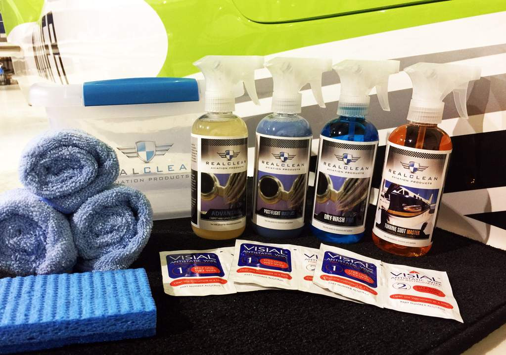 Real Clean Products Flyaway Cleaning Kit for exterior and interior detailing.