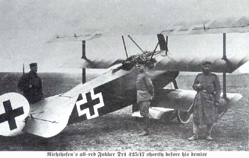 The Red Baron - Manfred von Richthofen and Fokker Dr. 1