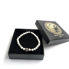 Laden Sie das Bild in den Galerie-Viewer, Medusa Armband Howlith -925er Sterlingsilber - Relict