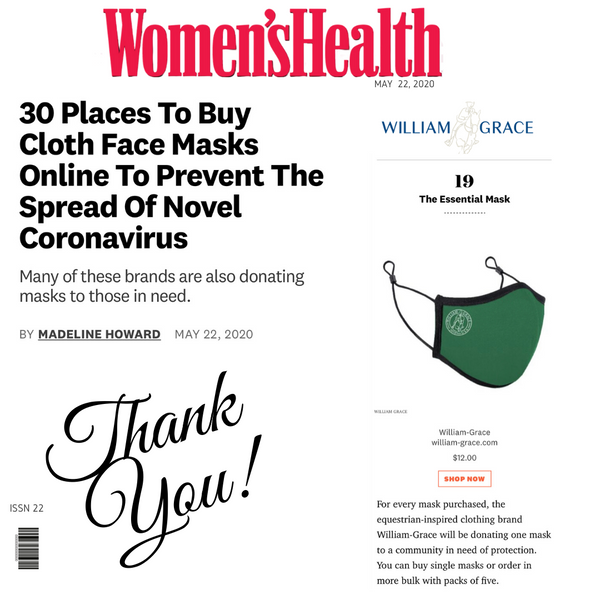 Women's Health Magazine's 30 Places To Buy Cloth Face Masks Online To Prevent The Spread Of Novel Coronavirus