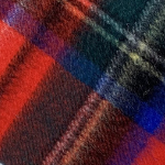 a close up of red and blue plaid