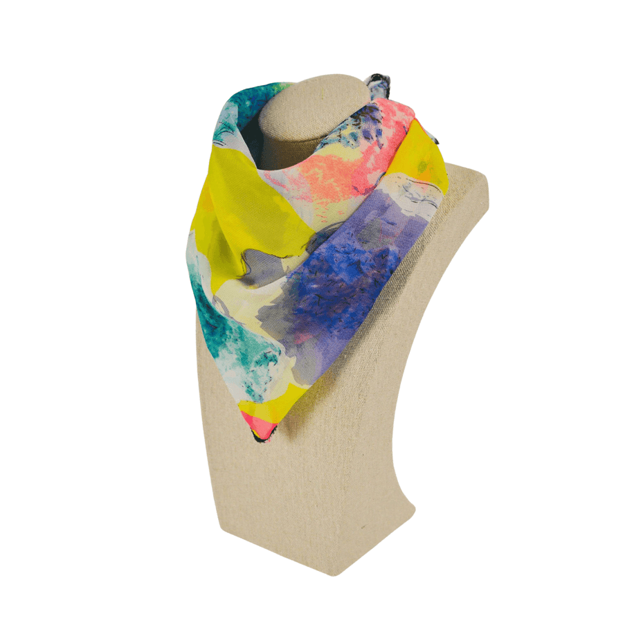 bright and colorful fashion scarf