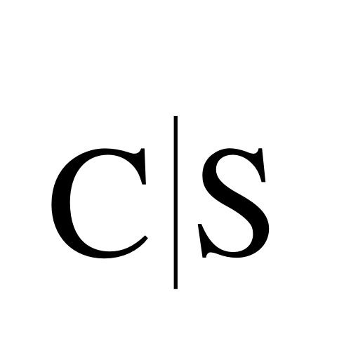 CS as a divided monogram