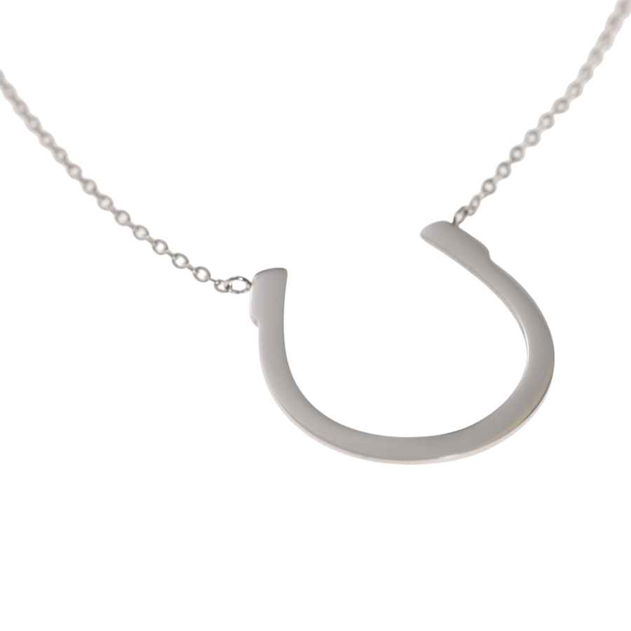 LARGE HORSESHOE NECKLACE - Silver