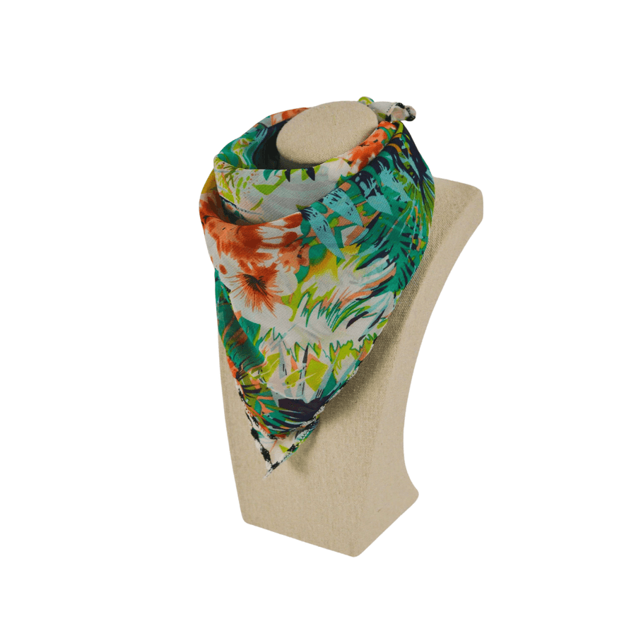tropical floral fashion scarf