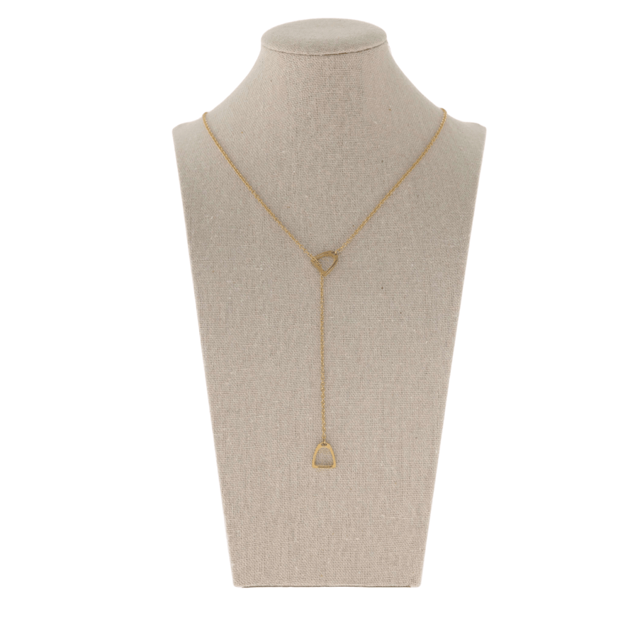 HUNTER LARIAT STIRRUP NECKLACE - Gold