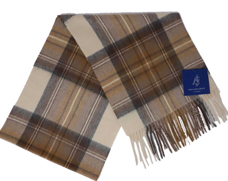 Classic Plaid Cashmere Scarves