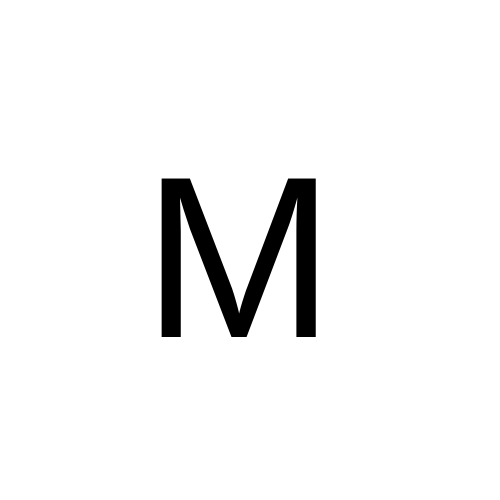 M in arial