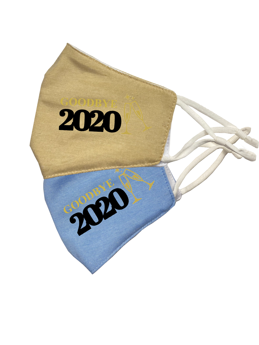 Goodbye 2020 Linen Face Cloth (2 or 5-pack)
