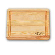 Small cutting board carved monogrammed personalized, yellow birch with New England ash, made in vermont, perfect for chopping and charcuterie