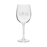 Personalized monogrammed stem wine glass set of 4