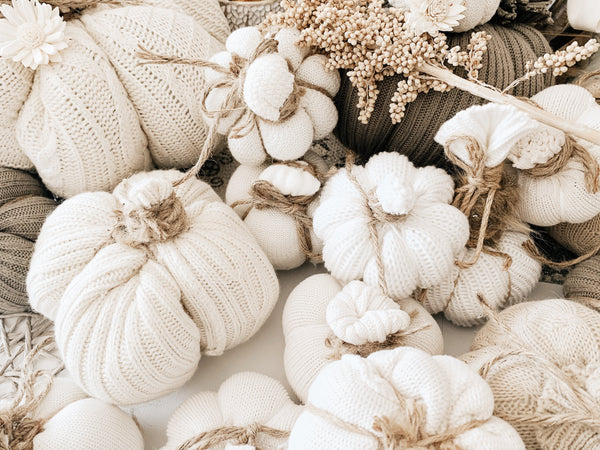 Handmade Knitted Pumpkins - Recycled! | Aria Clothing Boutique