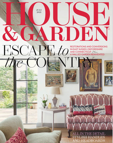 House & Garden Magazine Feature of White Dough Bowl Soy Candle
