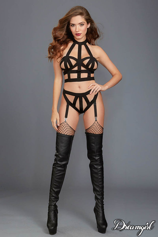 2 PCS FETISH SET BLACK OS