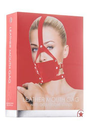 Leather Mouth Gag - Red