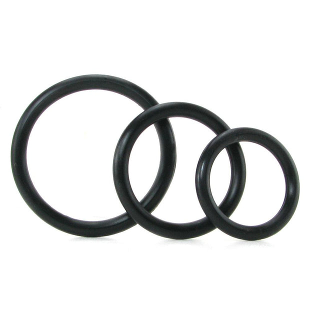 Silicone Support Cock Rings in Black