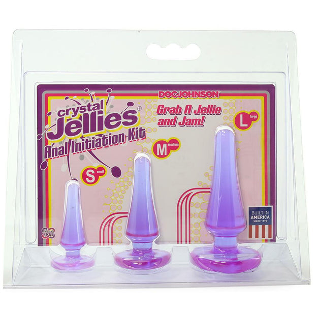 Crystal Jellies Anal Initiation Kit in Purple