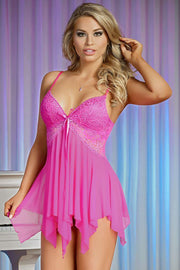 Pretty in Pink Babydoll Set in L/XL