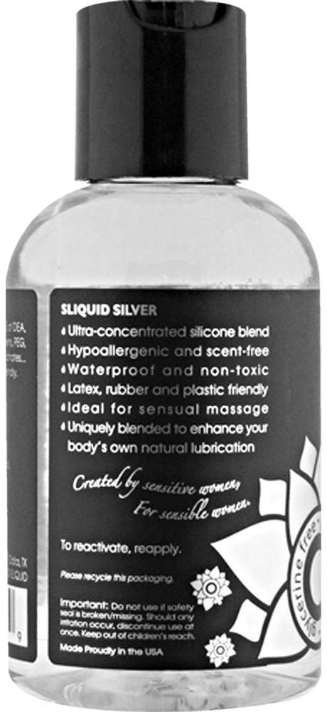 Silver Silicone Intimate Lubricant in 4.2oz/125ml