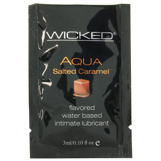 Aqua Flavored Lube .10oz/3ml in Salted Caramel