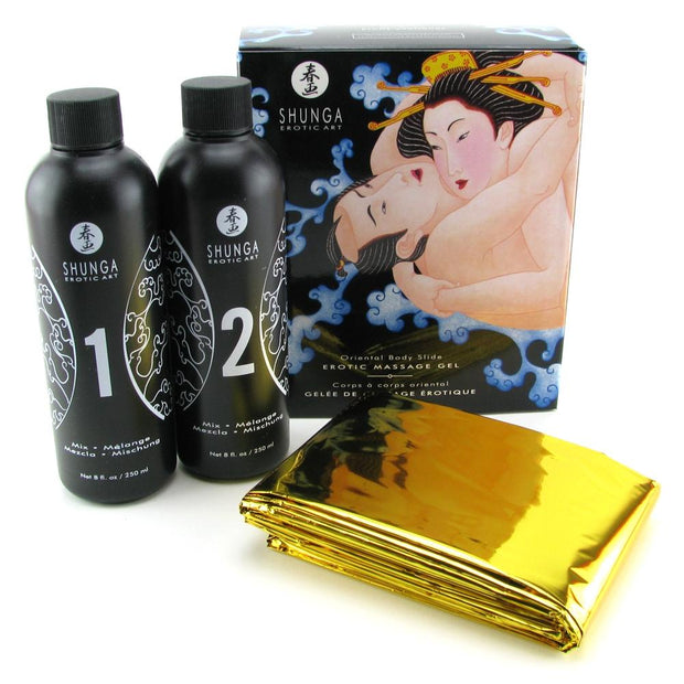 Oriental Body Slide Erotic Nuru Massage Kit in Exotic Fruit