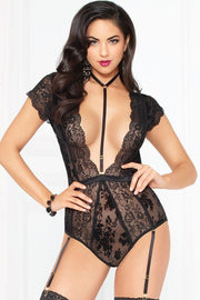 Ebony Twilight Teddy with Harness in L
