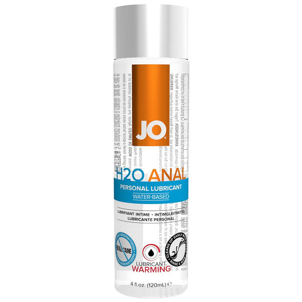 H2O Anal Personal Lube 4oz/120ml in Warming