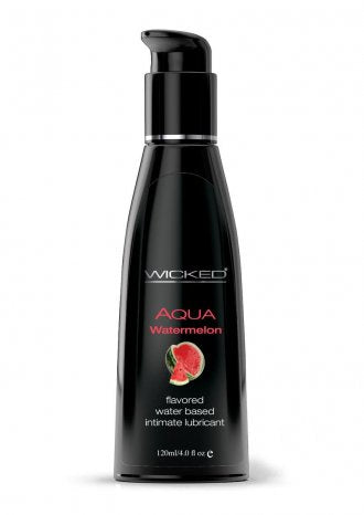 Aqua Flavored Lube 4oz/120ml in Watermelon