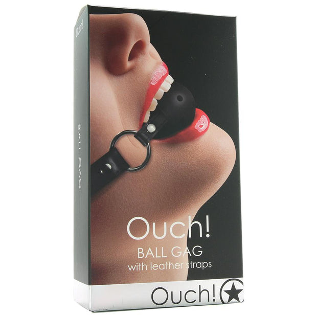 Ouch! Ball Gag in Black