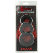 Doc Johnson Kink Collaboration Endure Premium Silicone Cock Ring Set Black Package Front