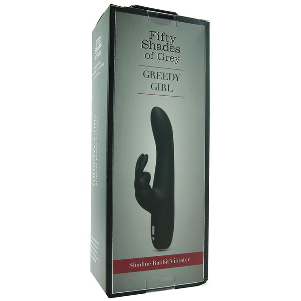 Greedy Girl Slimline Rabbit Vibrator FSGrey