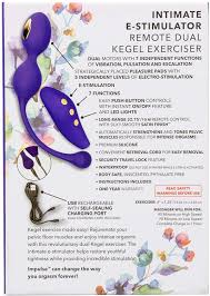 IMPULSE - INTIMATE E-STIMULATOR - REMOTE DUAL KEGEL EXERCISER